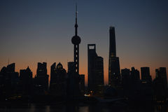 Sunrise in Shanghai Stock Photo