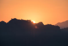 Sunrise shine on mountain Stock Photography