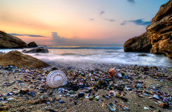 Sunrise on the shore. Sunrise on the Black Sea coast Royalty Free Stock Images