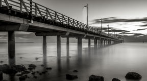 Sunrise at the Shorncliffe Pier Royalty Free Stock Images