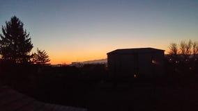 The sunrise. stock photo
