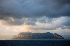 Sunrise on the Sicily Island. In Italy Royalty Free Stock Photo