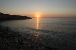 Sunrise in Sicily Stock Photo
