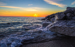 The Sunrise Side Of The Great Lakes Stock Image
