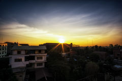 Sunrise in Siem Reap Stock Images