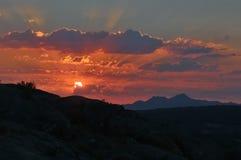 Sunrise in the Sierra de Bejar. Spain Inside Royalty Free Stock Image