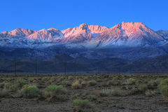 Sunrise in the Sierra Mountains Californa Stock Images