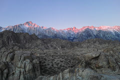 Sunrise on the Sierra Nevada Mountains Royalty Free Stock Images