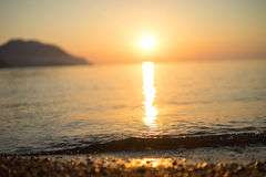 Sunrise silhouette above sea and sky Turkey Stock Photography
