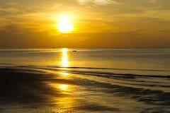 Sunrise silhouette Stock Image