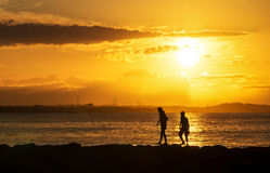 SUNRISE SILHOUETTES Royalty Free Stock Photography