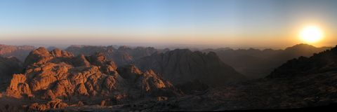 Sunrise on sinai Royalty Free Stock Photography