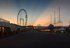 Sunrise at Singapore. Scene before sunrise at Singapore stock photo