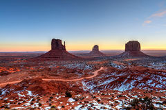 Sunrise Skies Monument Valley Royalty Free Stock Image