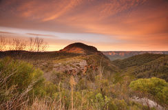 Sunrise skies over Mount Banks Blue Mountains Royalty Free Stock Photography