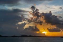 Sunrise skies over Torres Straits Islands Archipelago, Australia stock image