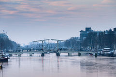 Sunrise skinny bridge Royalty Free Stock Image