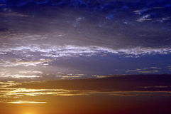 Sunrise Sky. Cloudscape at sunrise in the Texas hill country Stock Images
