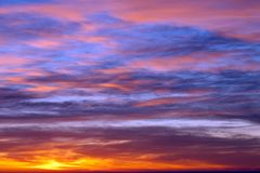 Sunrise sky Stock Photo