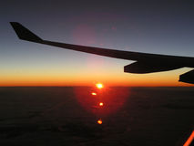 Sunrise in the sky Royalty Free Stock Photos
