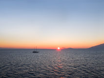 Sunrise sky in the Aegean sea Royalty Free Stock Image