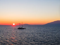 Sunrise sky in the Aegean Sea Stock Images