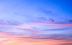 Sunrise sky background Royalty Free Stock Photos
