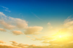 Sunrise sky background Royalty Free Stock Photo
