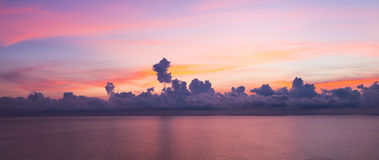 Sunrise sky background. Panorama view of sunrise sky background Stock Images