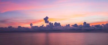 Sunrise sky background. Panorama view of sunrise sky background stock images