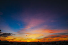 Sunrise sky in Bangkok Thailand Stock Images