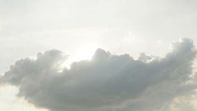 Sunrise in the sky cloud gray color soft tone Stock Image