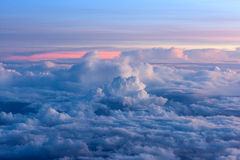 Sunrise on sky and clouds, background Stock Photography