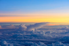 Sunrise on sky and clouds, background Royalty Free Stock Image