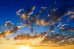 Sunrise sky clouds Royalty Free Stock Photos