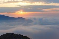 Sunrise sky landscape. Stock Photo