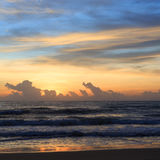 Sunrise sky in the morning with colorful cloud on the beach Royalty Free Stock Images