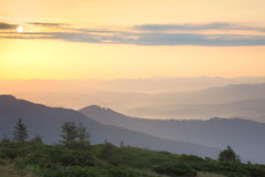 Sunrise Sky and Mountains Ranges Landscape Royalty Free Stock Photography