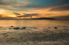 Sunrise Sky Nha Trang Bay Vietnam Royalty Free Stock Photos