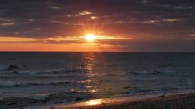 Sunrise sky over beach stock video