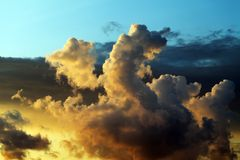 Sunrise sky Stock Image