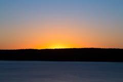 Sunrise Sky Over South Bay Stock Photo