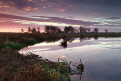 Sunrise sky reflected in river Royalty Free Stock Photos