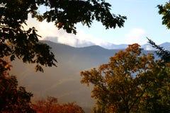 Sunrise in the smokey mountain Stock Image