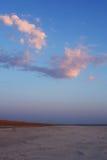Sunrise in solonchak Royalty Free Stock Photos