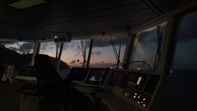 Sunrise on Carribean Island. Offshore life. royalty free stock photography