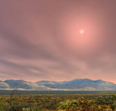 Sunrise Sonora Desert Arizona. Sunrise in The Sonora desert in central Arizona USA Stock Photography