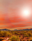 Sunrise Sonora Desert. Sunrise in The Sonora desert in central Arizona USA Royalty Free Stock Photography