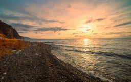 Sunrise in the south of Baikal Royalty Free Stock Photo