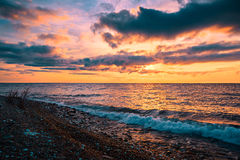 Sunrise in the south of Baikal Stock Photography